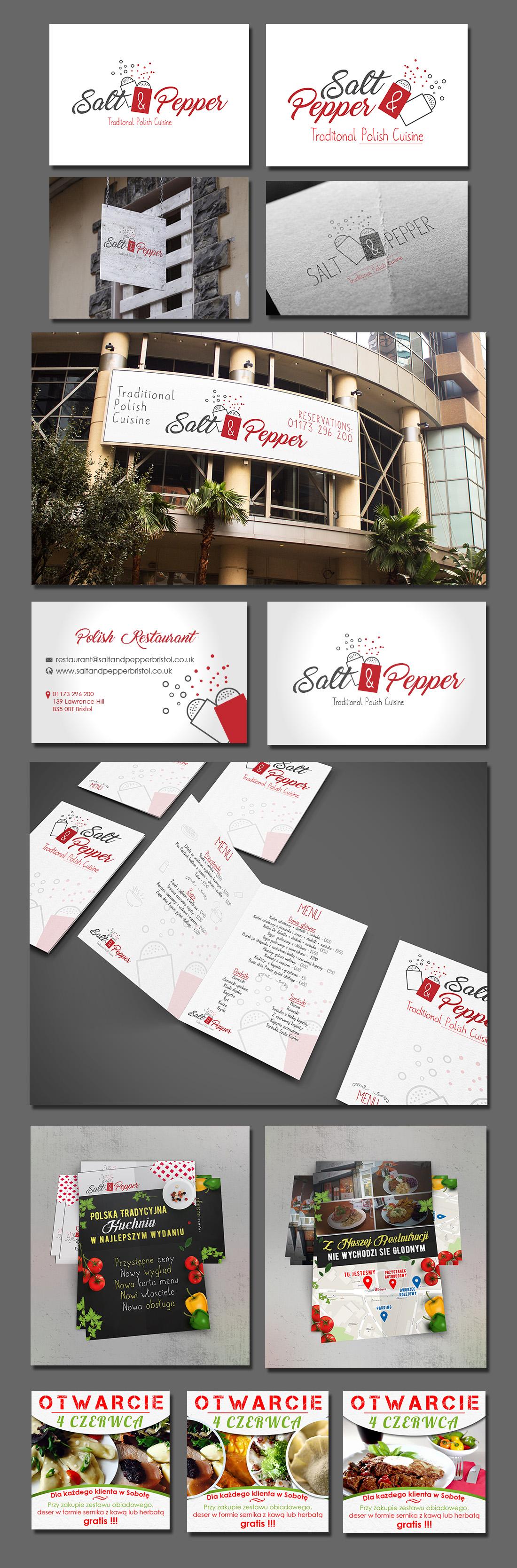 projekt identyfikacji wizualnej Salt and Pepper firma negaton grafika